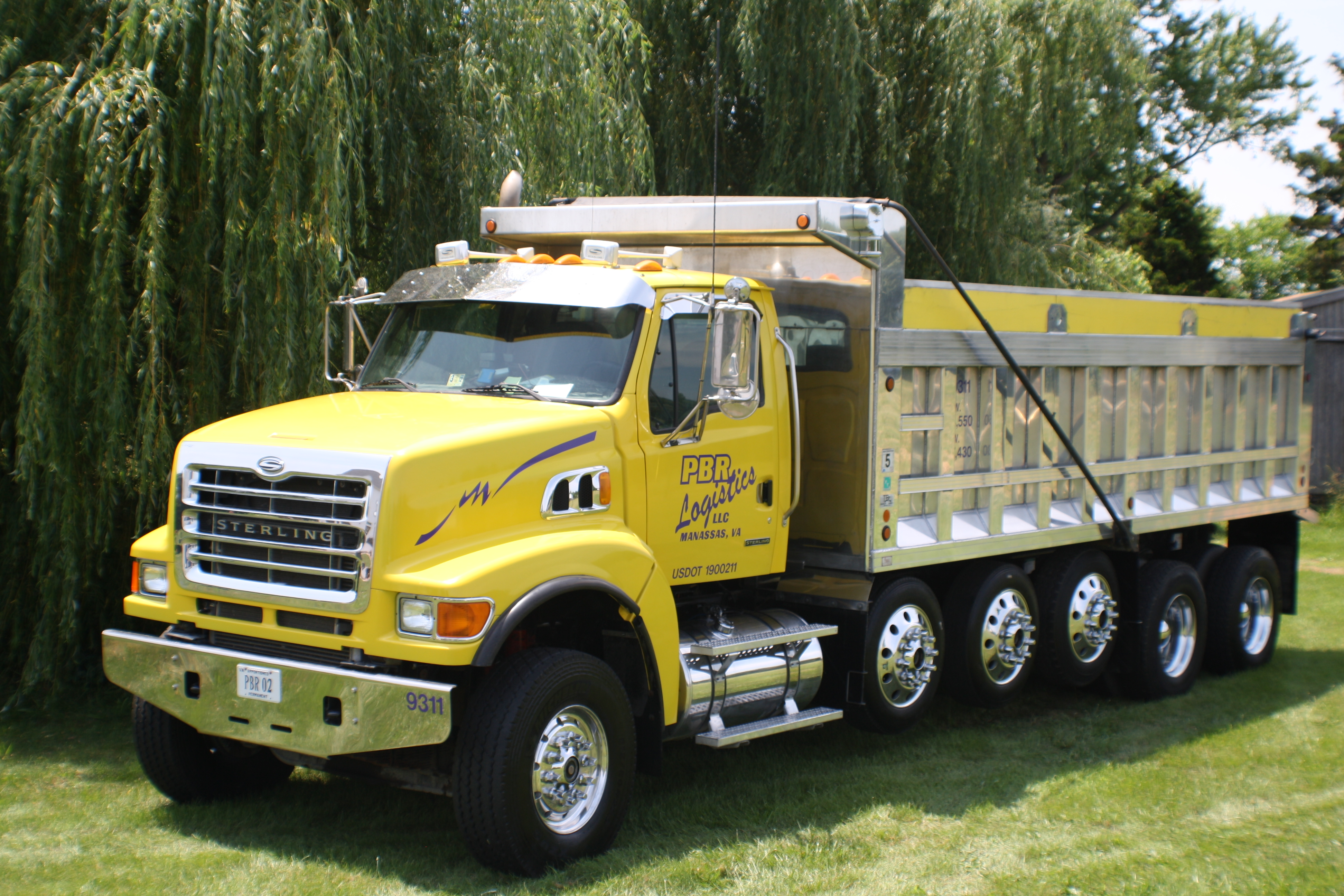 Crushed Stone Delivery Truck